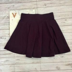 h&m womens xs purple skater skirt divided basic pu